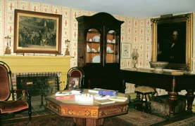 The library at the Millard Fillmore House